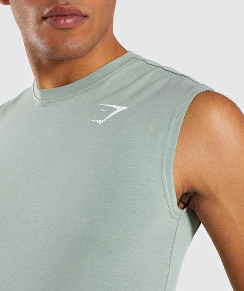 Gymshark Ark Sleeveless T-Shirt - Pale Green 4