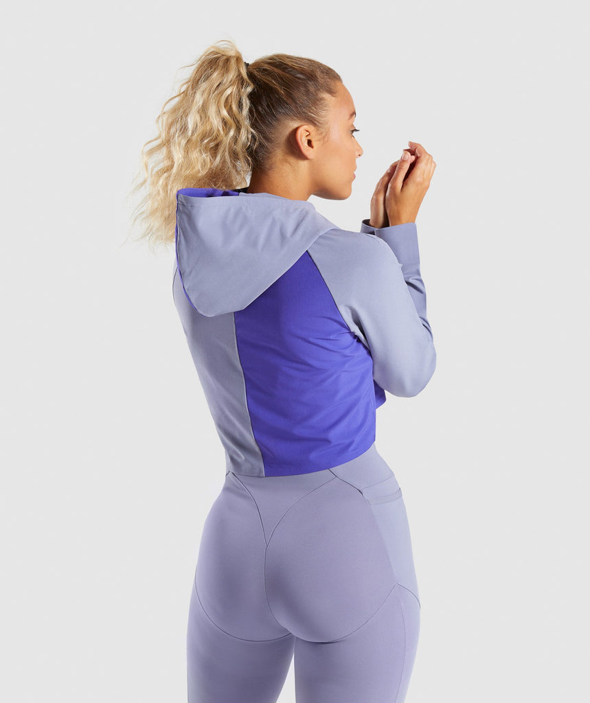 Gymshark Asymmetric Performance Hoodie - Steel Blue/Indigo 2
