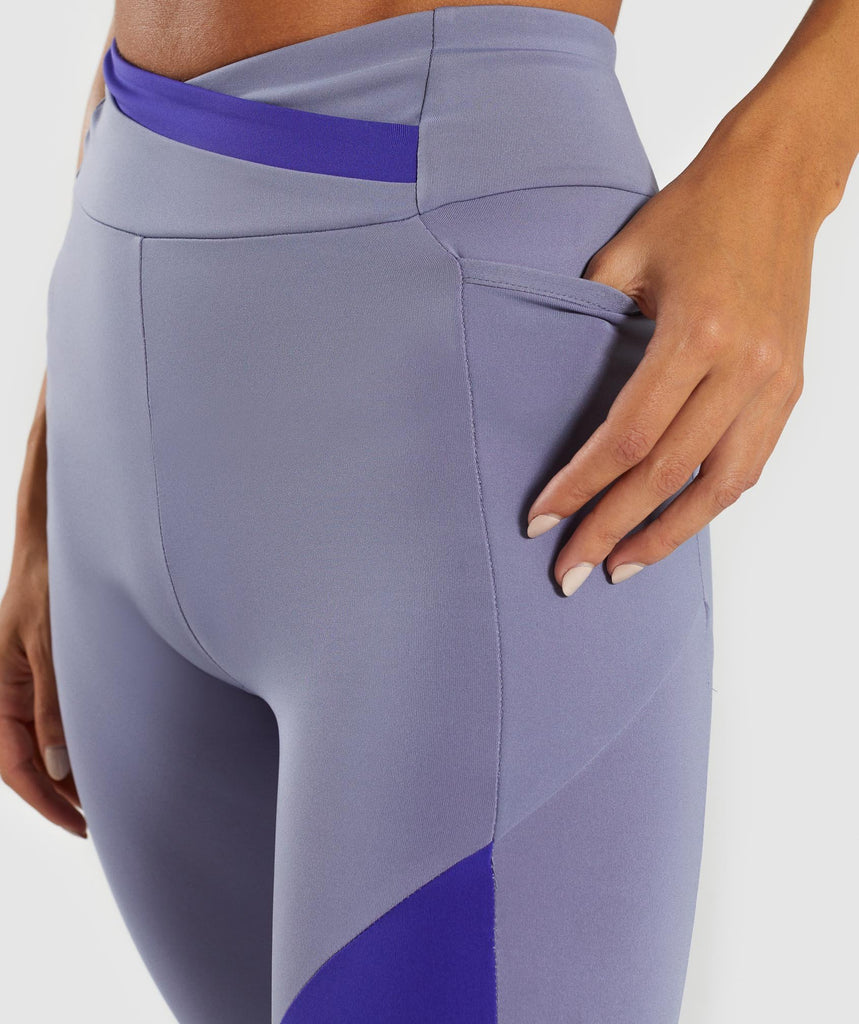 Gymshark Asymmetric Leggings - Steel Blue/Indigo 5