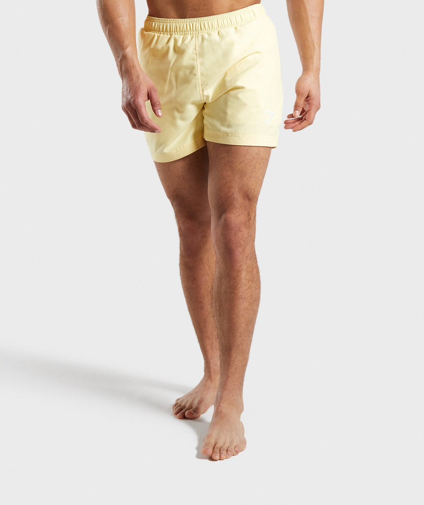 Gymshark Atlantic Swim Shorts - Yellow 1