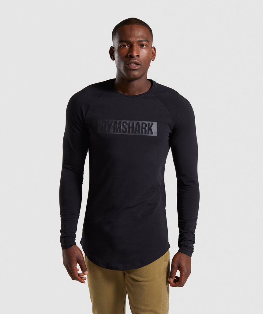 Gymshark Block Long Sleeve T-Shirt - Black/Black 1