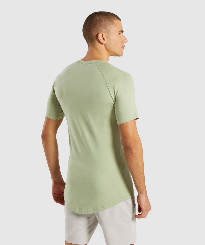 Gymshark Block T-Shirt - Chalk Green 2