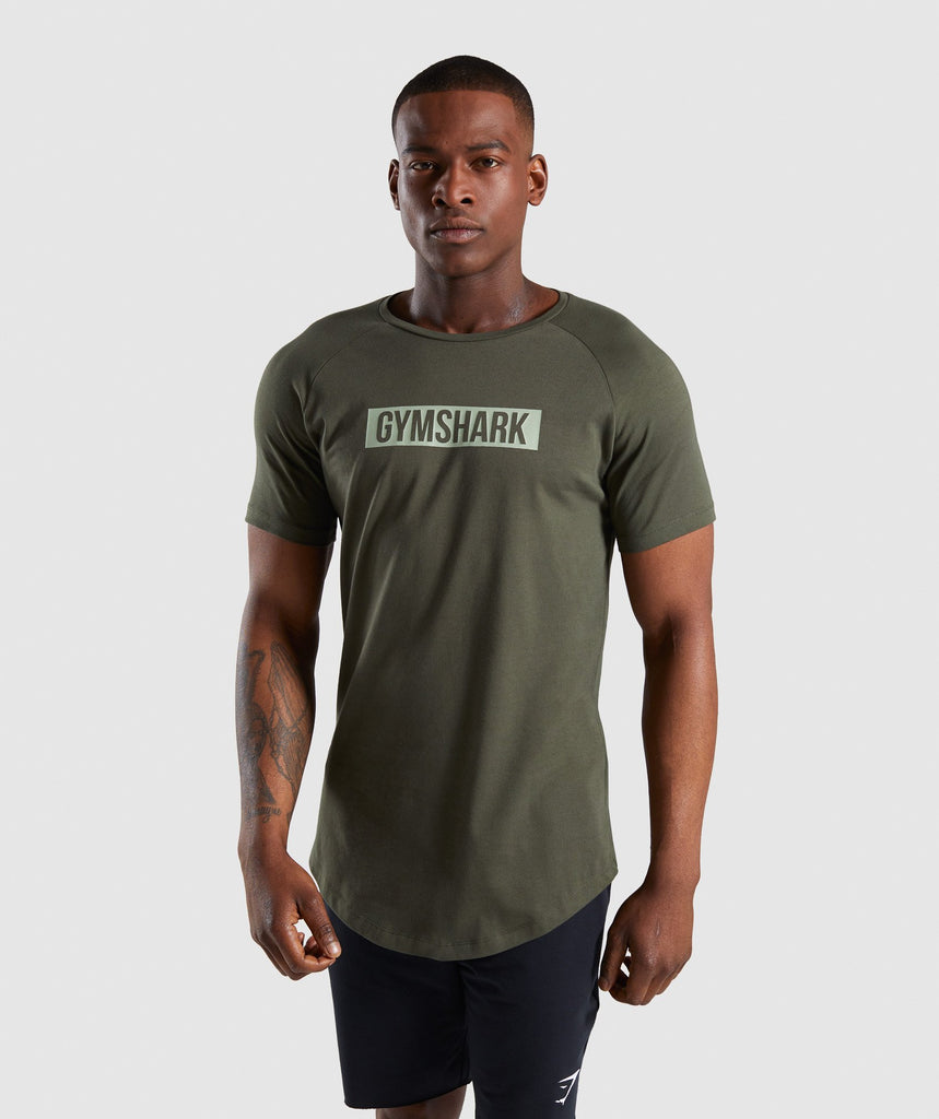 Gymshark Block T-Shirt - Woodland Green 1