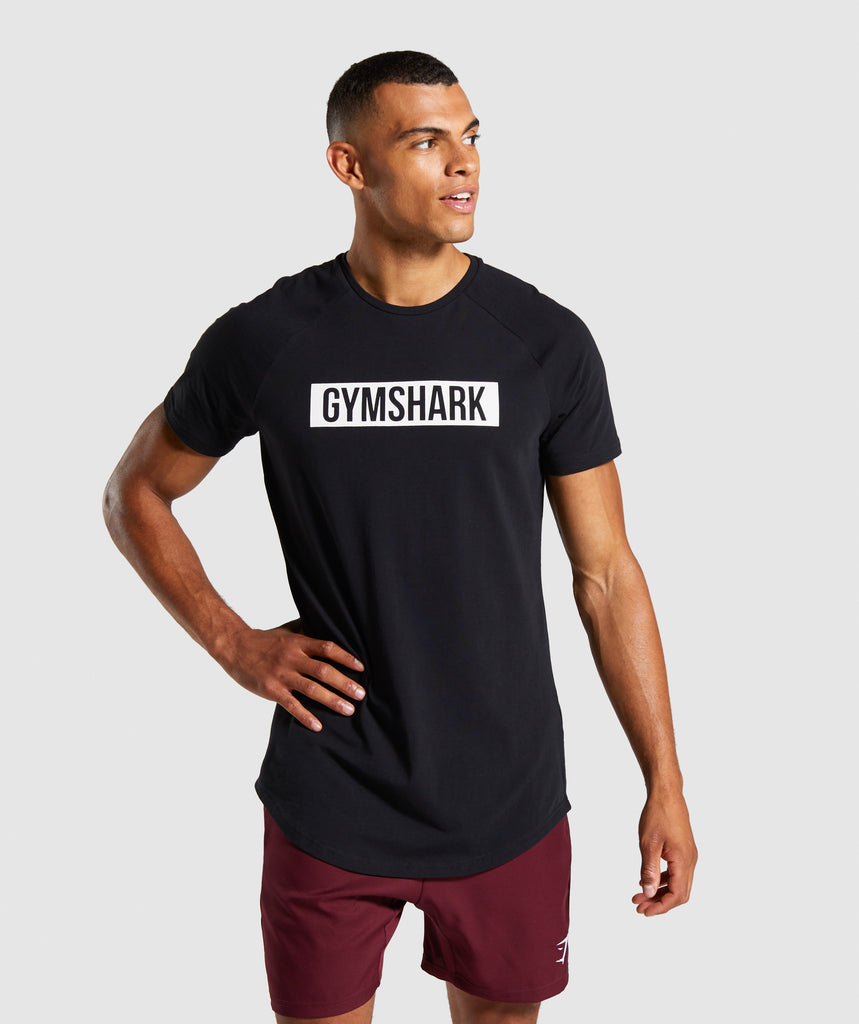 Gymshark Block T-Shirt - Black 1