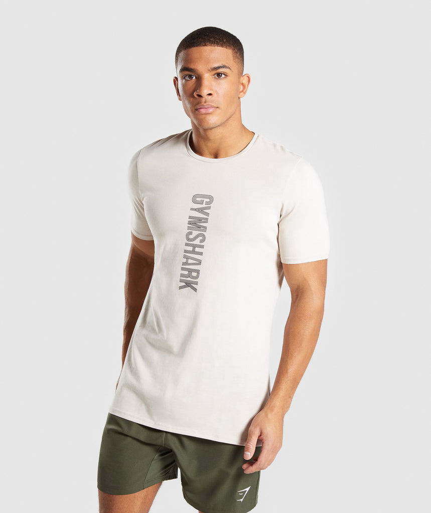 Gymshark Bold T-Shirt - Washed Beige 4