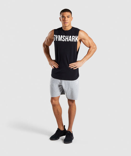 Gymshark Bold Graphic Drop Armhole Tank - Black 3