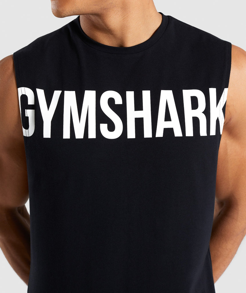 Gymshark Bold Graphic Drop Armhole Tank - Black 5