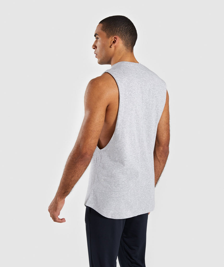 Gymshark Bold Graphic Drop Armhole Tank - Grey 2