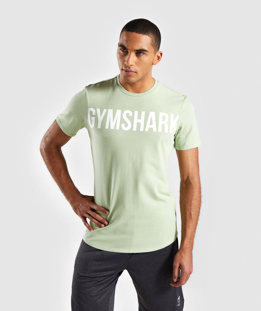 Gymshark Bold Graphic T-Shirt - Green 1