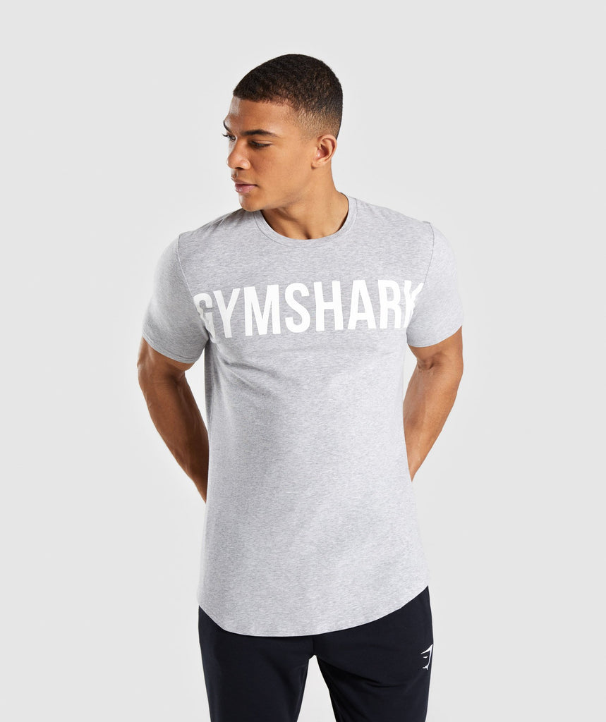 Gymshark Bold Graphic T-Shirt - Grey 1
