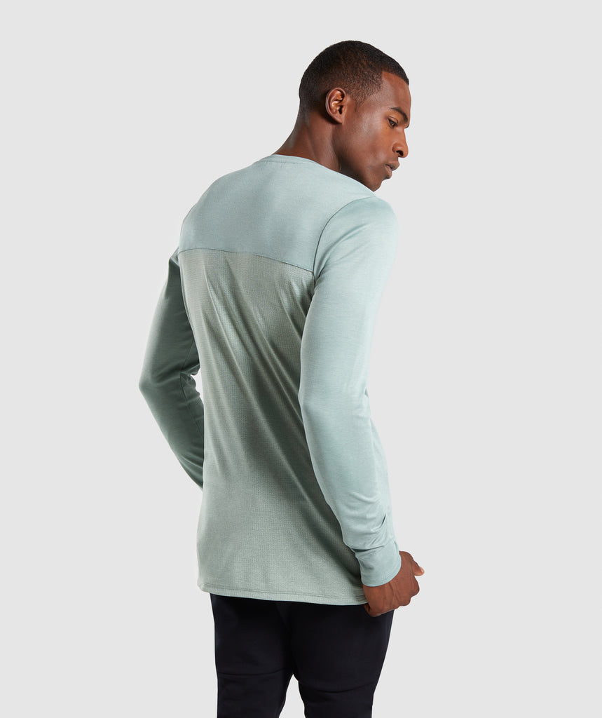 Gymshark Breathe Long Sleeve T-Shirt - Pale Green 2
