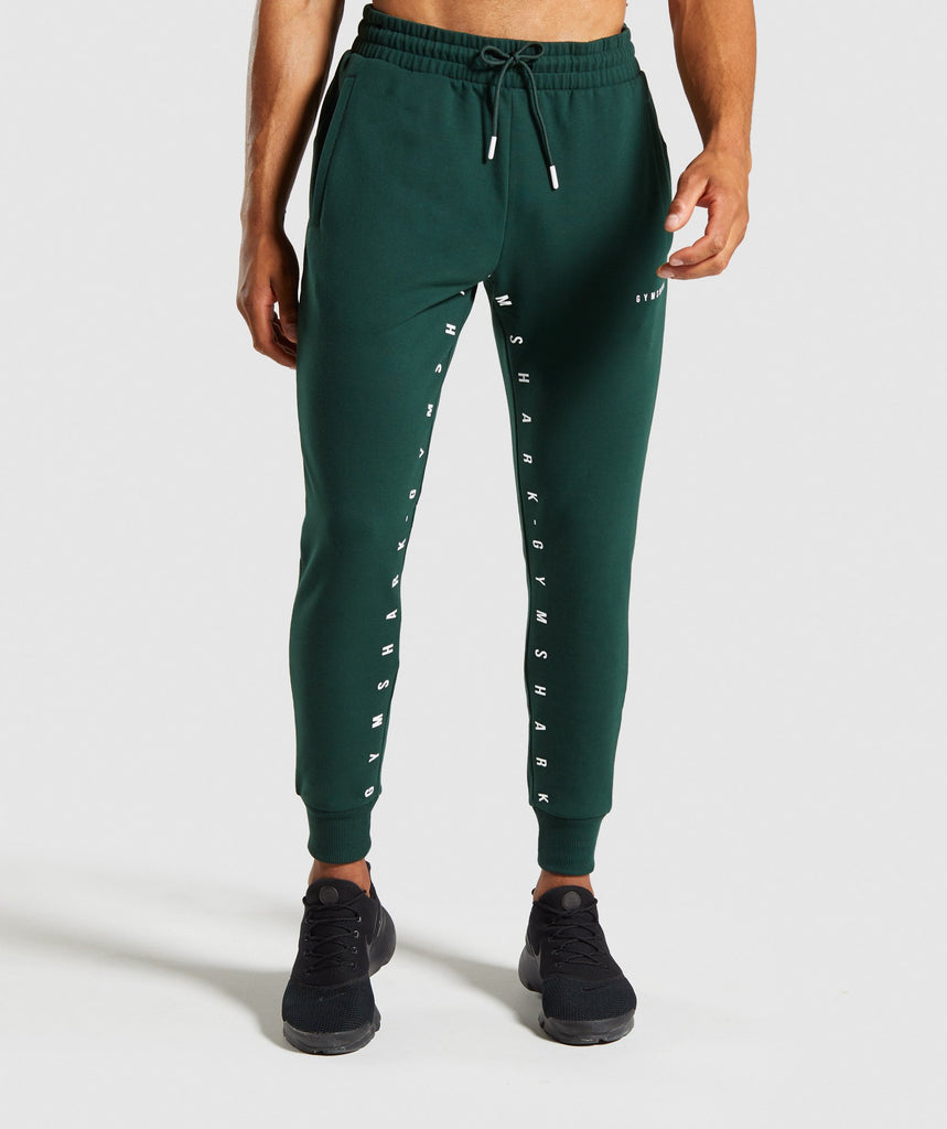 Gymshark Contrast Joggers- Green 1
