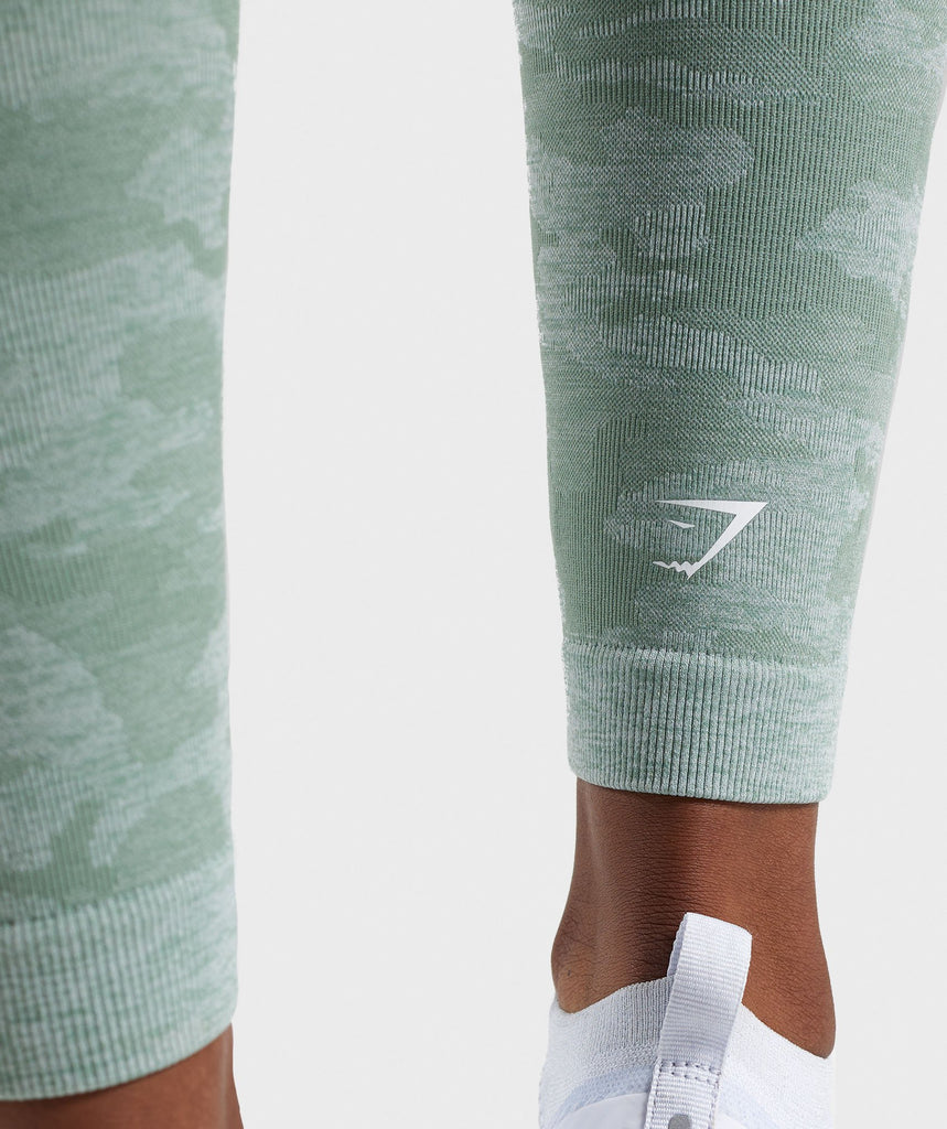 Gymshark Camo Seamless Leggings - Sage Green 6