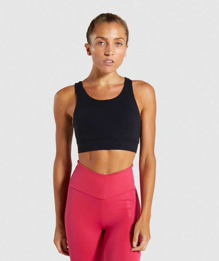 Gymshark Captivate Sports Bra - Black 1