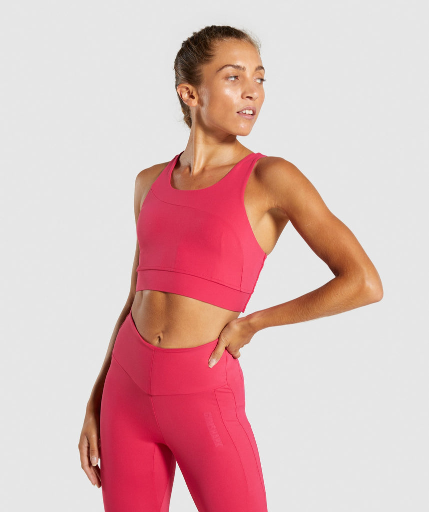 Gymshark Captivate Sports Bra - Fuchsia 1