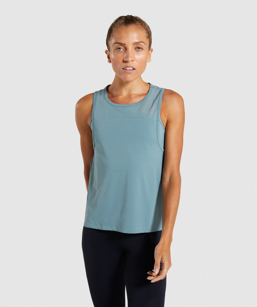 Gymshark Captivate Two in One Tank - Turquoise 1