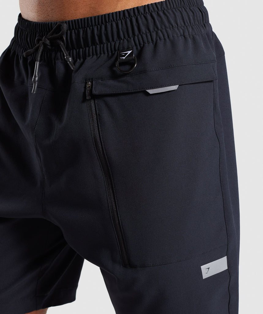 Gymshark Cargo Tech Shorts- Black 6