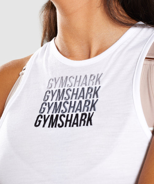 Gymshark Colour Fade Vest - White 3