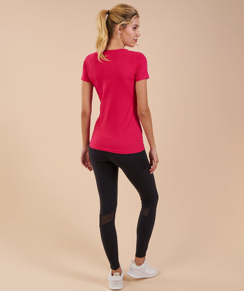 Gymshark Women's Apollo T-Shirt - Cranberry