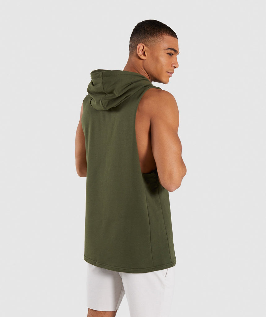 Gymshark Critical Drop Armhole Hoodie - Green 2