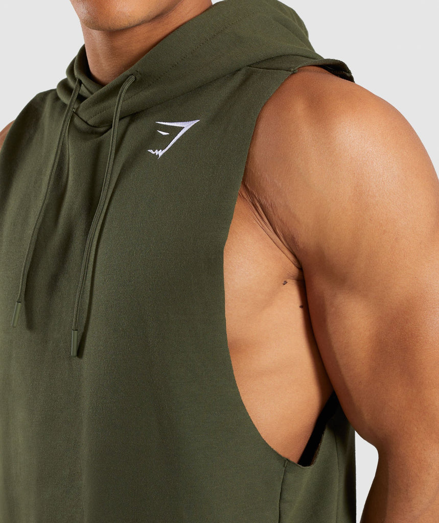 Gymshark Critical Drop Armhole Hoodie - Green 5