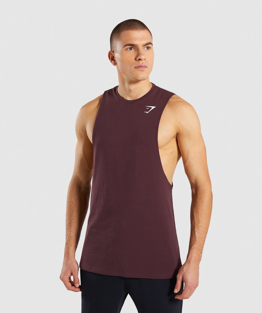 Gymshark Critical Drop Armhole Tank - Red 1