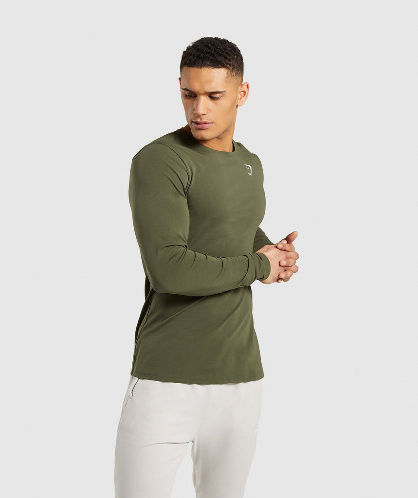 Gymshark Critical Long Sleeve T-Shirt - Green 1