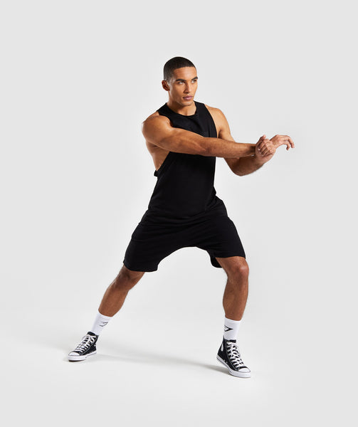 Gymshark Crucial Drop Arm Tank - Black 3
