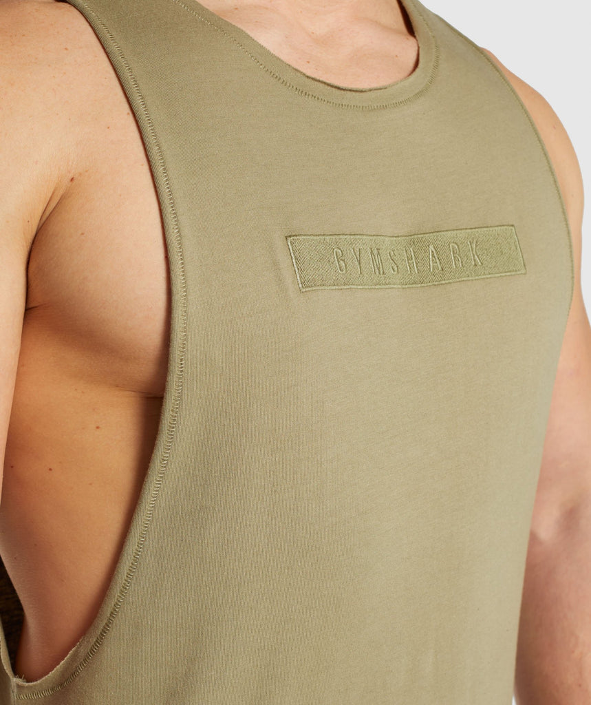 Gymshark Crucial Drop Arm Tank - Light Khaki 5