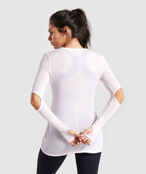 Gymshark Cut Out Long Sleeve - Chalk Pink 1