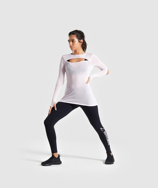 Gymshark Cut Out Long Sleeve - Chalk Pink 2
