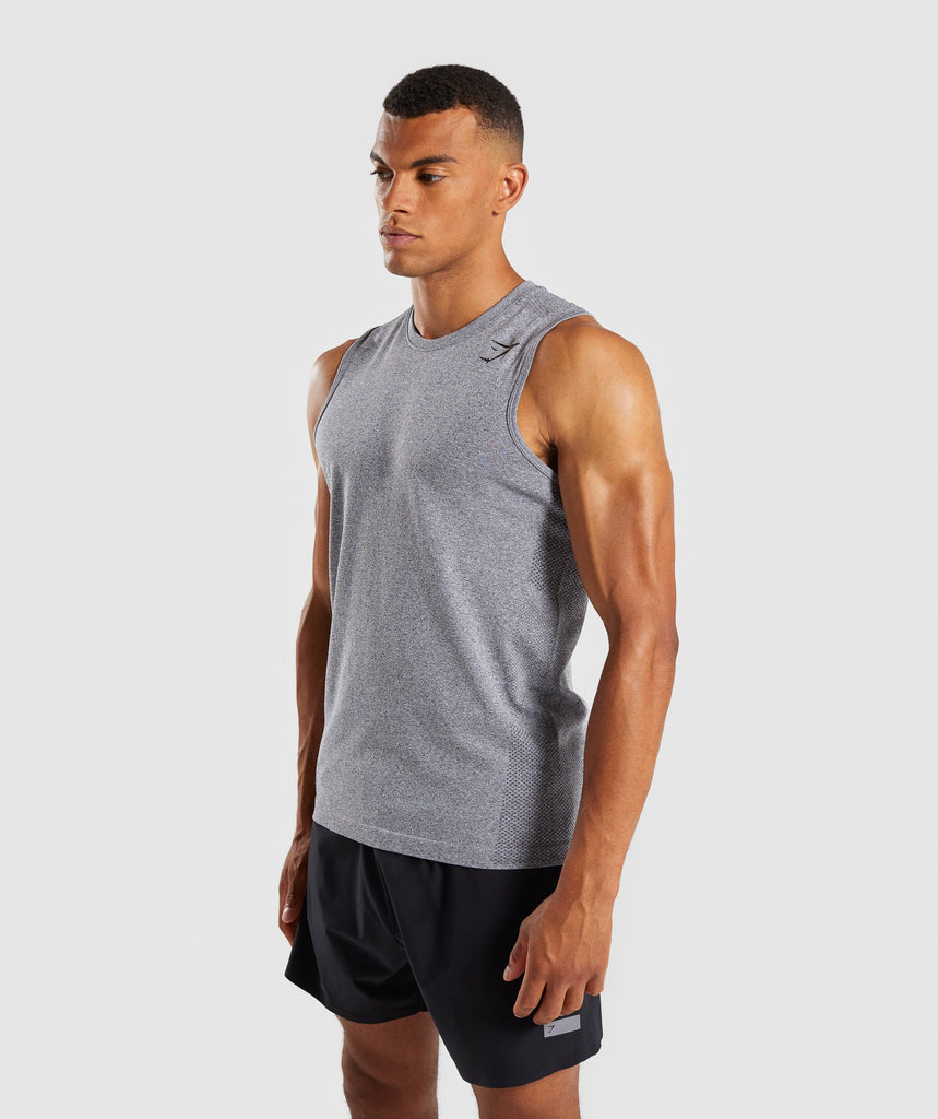 Gymshark Define Seamless Tank - Smokey Grey Marl 1