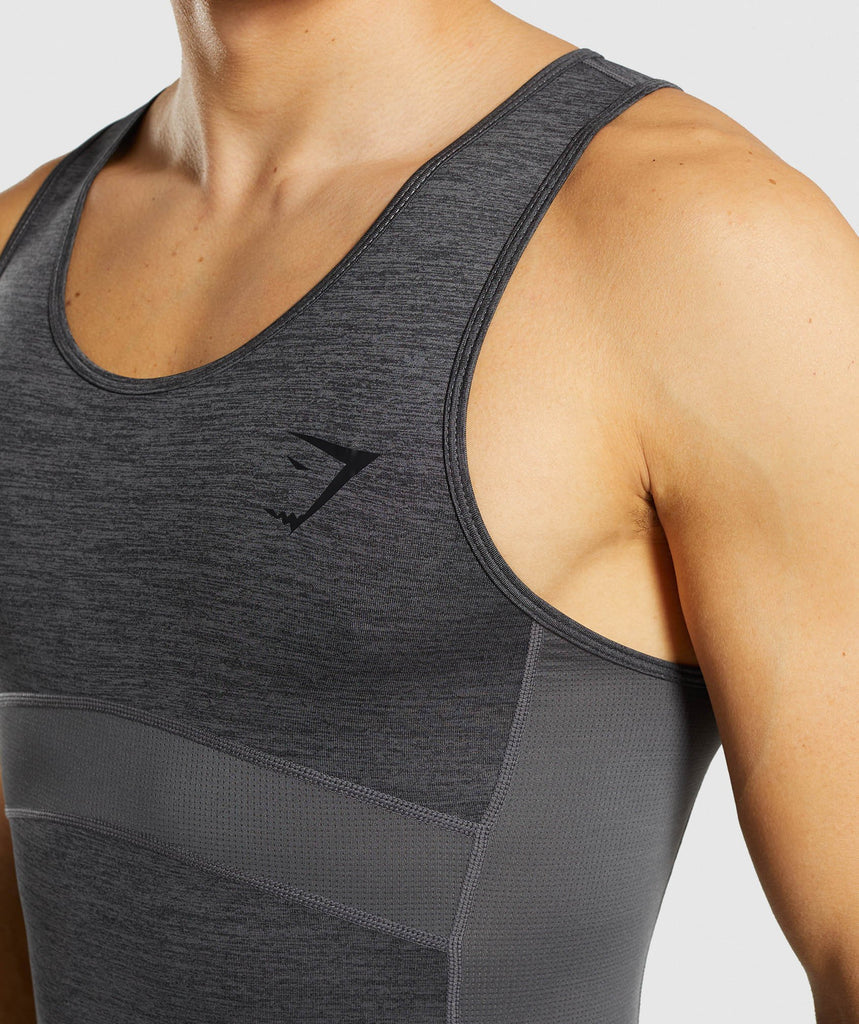 Gymshark Element+ Baselayer Tank - Black Marl 5