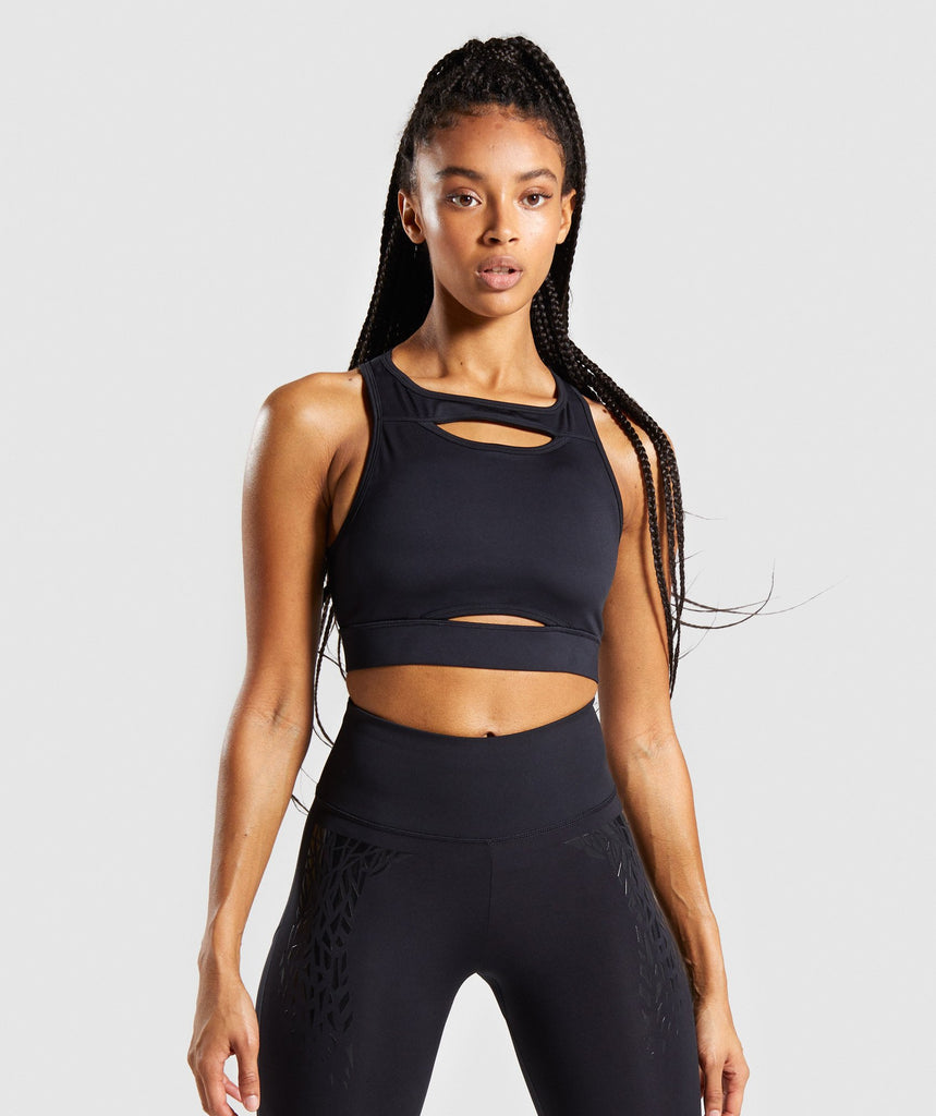 Gymshark Exo Sports Bra - Black 1