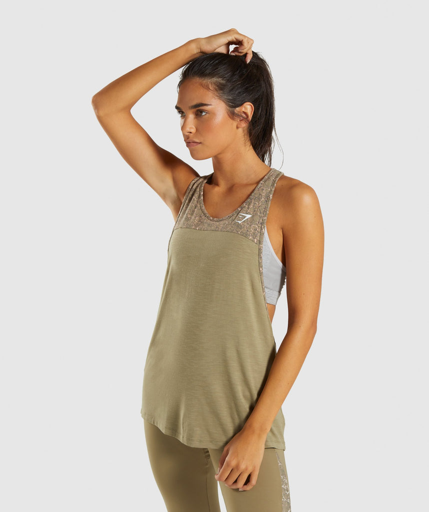 Gymshark Efflux Vest - Washed Khaki 1