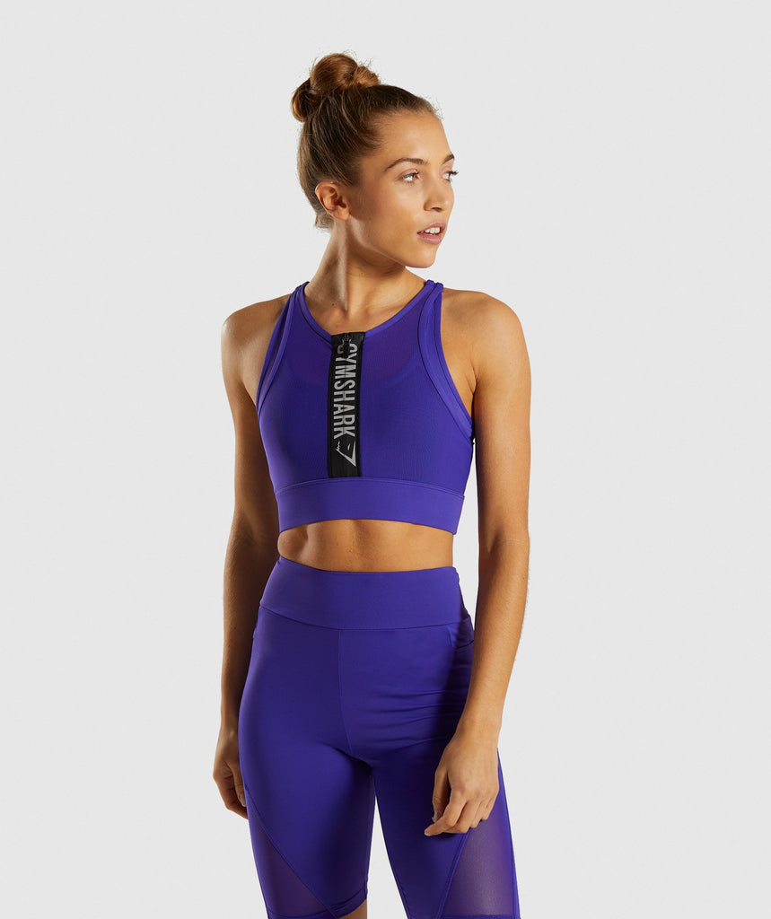 Gymshark Elevate Sports Bra - Indigo 1