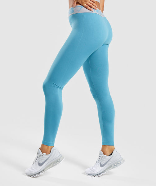 Gymshark Fit Leggings - Dusky Teal/Light Grey 2