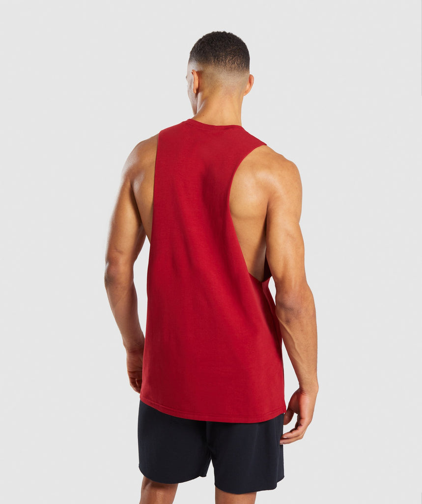 Gymshark Legacy Drop Armhole Tank - Full Red 2