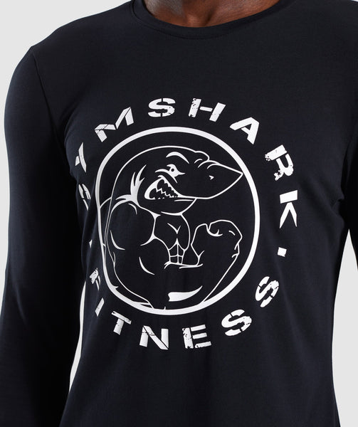 Gymshark Legacy Long Sleeve T-Shirt - Black 4