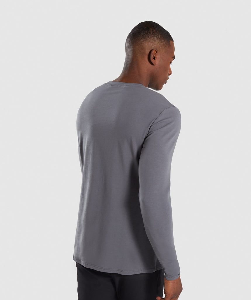 Gymshark Legacy Long Sleeve T-Shirt - Smokey Grey 2