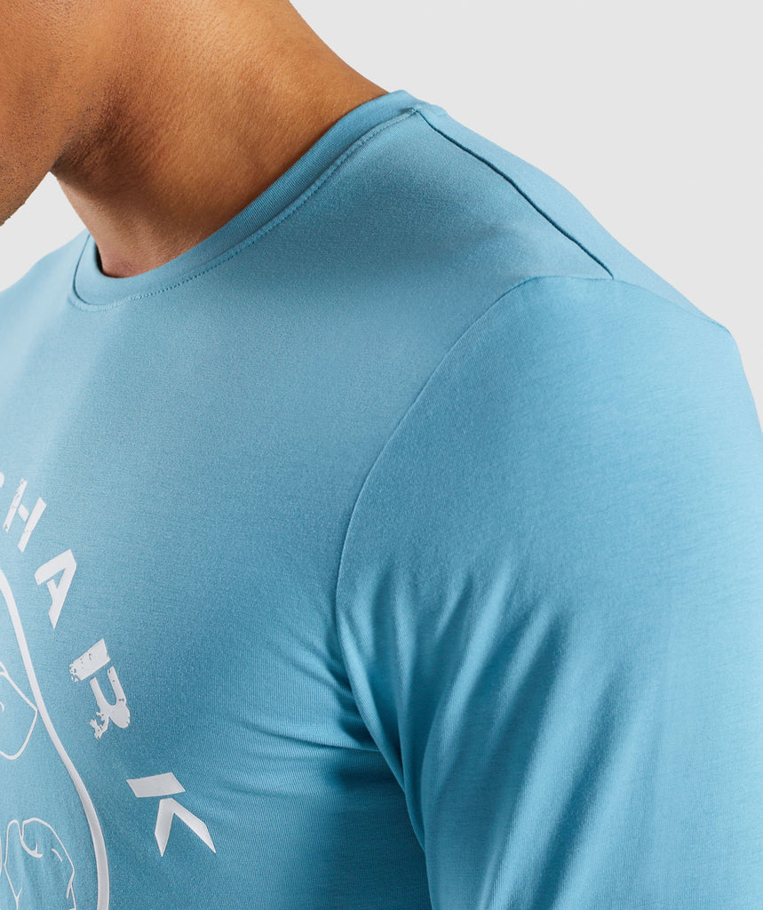 Gymshark Legacy Long Sleeve T-Shirt - Dusky Teal 6
