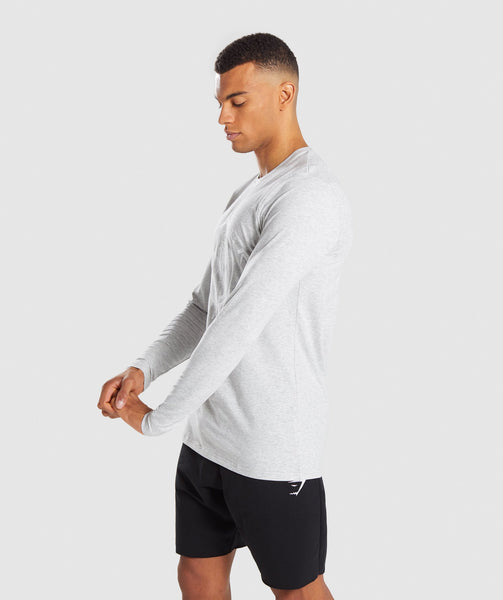 Gymshark Legacy Long Sleeve T-Shirt - Wolf Grey Marl 4