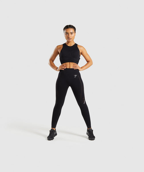 Gymshark Flawless Knit Sports Bra - Black 3