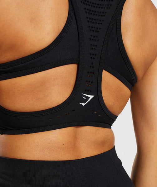 Gymshark Flawless Knit Sports Bra - Black 4
