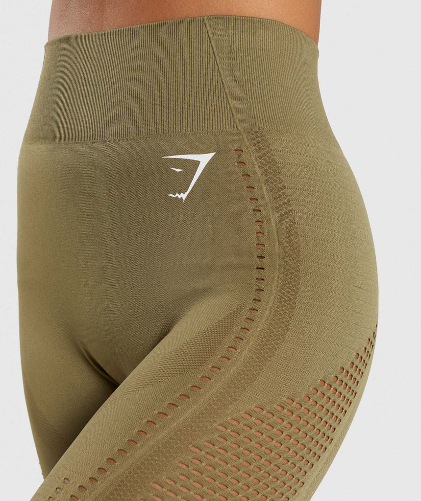 Gymshark Flawless Knit Tights - Khaki 5