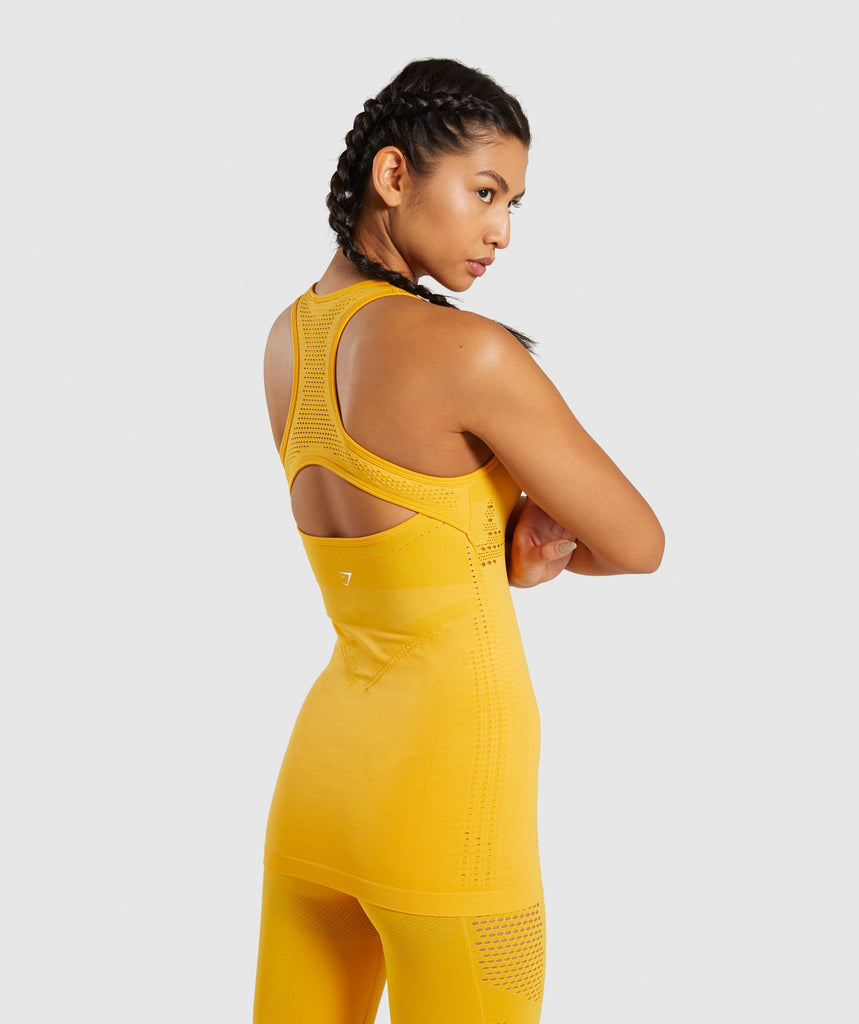 Gymshark Flawless Knit Vest - Yellow 2