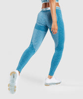 Gymshark Flex Leggings - Deep Teal/Ice Blue 8