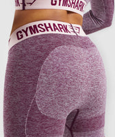 Gymshark Flex Shorts - Dark Ruby Marl/Blush Nude 11