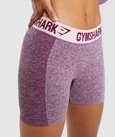 Gymshark Flex Shorts - Dark Ruby Marl/Blush Nude 12