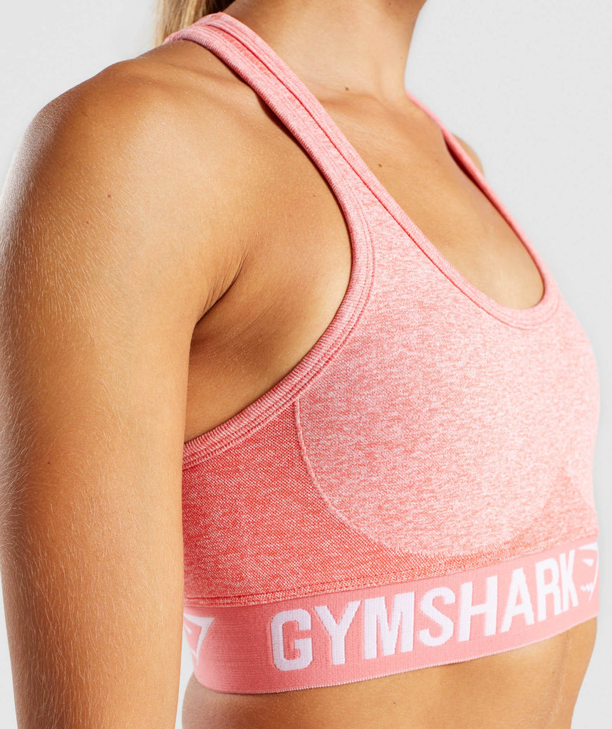 Gymshark Flex Sports Bra - Peach Coral 6